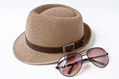 Hoed & zonnebril Stock Afbeeldingen