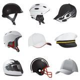 Hoed en helm Royalty-vrije Stock Afbeeldingen