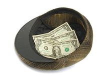 Hoed met geld Stock Afbeelding