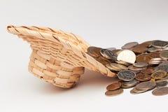 Hoed met geld Stock Foto's