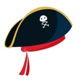 Hoed van de beeldverhaal de blauwe piraat met Royalty-vrije Stock Foto's