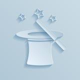 Hoed van het goochelaardocument pictogram Royalty-vrije Stock Afbeeldingen