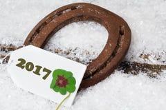 Hoef en Klaver, Nieuwjaar 2017 Stock Fotografie