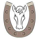 Hoef met Paardpictogram Stock Foto