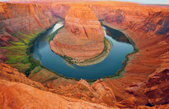 Hoefijzer krommingsPagina Arizona Verenigde Staten Stock Afbeelding