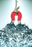 Hoefijzer Magneet en Spijkers Royalty-vrije Stock Afbeelding