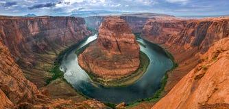 Hoefijzercanion op de Rivier van Colorado in de Verenigde Staten Stock Afbeelding