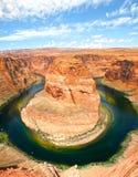 Hoefijzerkromming - de rivier van Colorado Royalty-vrije Stock Foto's