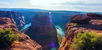 Hoefijzerkromming in het Nationale Park van Grand Canyon, Arizona, de Verenigde Staten van Amerika royalty-vrije stock afbeeldingen