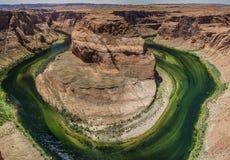 Hoefijzerkromming op de Rivier van Colorado in Arizona de V.S. Royalty-vrije Stock Foto's