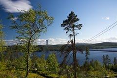 Hoegakustenbron, Angermanaelven, Σουηδία Στοκ Φωτογραφίες
