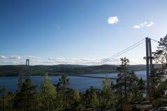 Hoegakustenbron, Angermanaelven, Σουηδία Στοκ φωτογραφίες με δικαίωμα ελεύθερης χρήσης