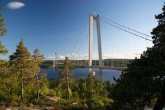 Hoegakustenbron, Angermanaelven, Σουηδία Στοκ Εικόνες