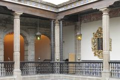 Hoek aan de treden, Casa DE los Azulejos, CDMX royalty-vrije stock afbeeldingen