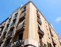 Hoek in Barcelona (Spanje) Stock Foto's