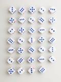 Hoek blauw dwarspatroon Stock Foto's