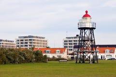 Hoek-Packwagen Holland - kleiner Leuchtturm Lizenzfreies Stockfoto