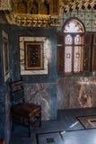 Hoek van Arabische Zaal (het Kasteel van Cardiff) stock fotografie