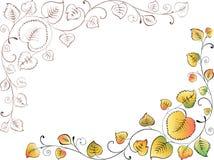 Hoek van de bladeren Stock Afbeeldingen