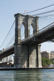 Hoek van de Brug van Brooklyn de Stroomopwaartse Zij Royalty-vrije Stock Afbeeldingen