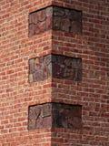 Hoek van een baksteenhuis Royalty-vrije Stock Afbeeldingen