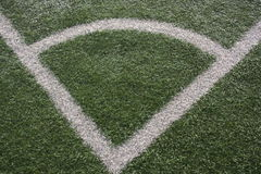 Hoek van een voetbalgebied Royalty-vrije Stock Afbeelding