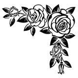 Hoek van rozen vector illustratie