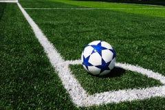 Hoek van voetbalgebied stock afbeeldingen