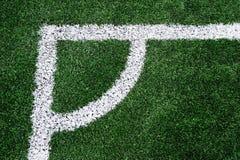 Hoek van voetbalgebied royalty-vrije stock afbeeldingen
