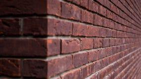 Hoekbakstenen muur Royalty-vrije Stock Afbeelding