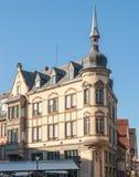 Hoekhuis in Colmar royalty-vrije stock foto's