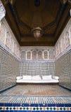 Hoekje bij het museum van Marrakech Stock Fotografie