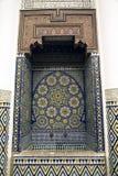 Hoekje bij het Museum van Marrakech Stock Foto