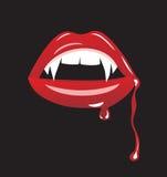 Hoektanden van de vampier stock illustratie