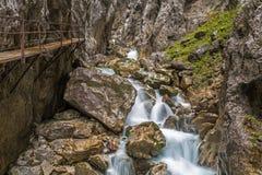 Hoellental gorge. Near Grainau, Garmisch-Partenkirchen Stock Image