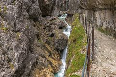 Hoellental gorge. Near Grainau, Garmisch-Partenkirchen Stock Photos