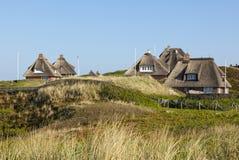 Hoernum的,叙尔特岛避暑别墅 库存照片