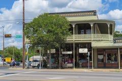 Hoerster大厦在Fredericksburg得克萨斯 免版税库存照片