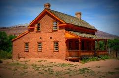 Hoeve in Grafton, de woestijn van Utah Stock Foto