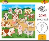 Hoeveel koeienspel vector illustratie