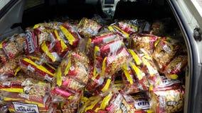 Hoeveelheid snack stock afbeelding