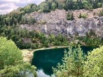 Hoewenegg sjö och naturreserv i en tidigare vulkanisk krater fotografering för bildbyråer