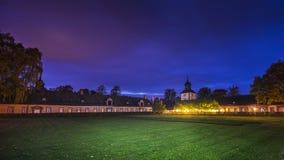 Hoexter Tyskland - Oktober 30, 2016: Imperialistisk abbotskloster av Corvey i norr Rhen-Westphalia Arkivbild