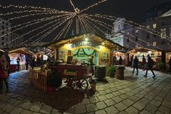 Am Hof Christmas market in Vienna, Austria Royalty Free Stock Images