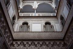 Hof der Puppen im Alcazar von Sevilla Lizenzfreies Stockbild