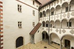 Hof des alten Schlosses Lizenzfreies Stockfoto