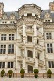 Hof des Blois Chateaus, Frankreich Stockbild