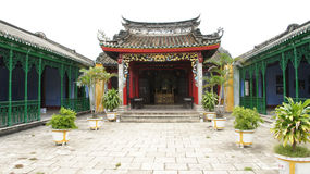 Hof des China-Tempelkomplexes, Hoi, Vietnam Lizenzfreies Stockbild