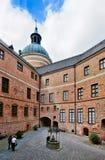 Hof des Gripsholm Schlosses, Schweden; Stockbild