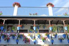 Hof eines typischen Hauses in Cordoba Stockfoto